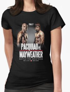Pacquiao vs Mayweather, Finally Womens Fitted T-Shirt