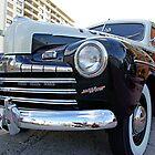 Retro Police Car in Bal Harbour, Florida by Zal Lazkowicz