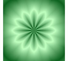 Green Abstract Star Photographic Print