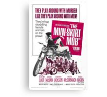 The Mini Skirt Mob (Pink) Canvas Print