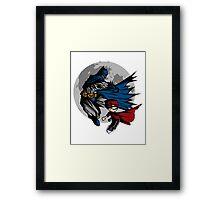 Batman and Calvin Hobbes Framed Print