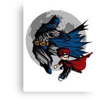 Batman and Calvin Hobbes Canvas Print