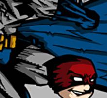 Batman and Calvin Hobbes Sticker