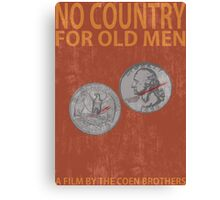 No Country For Old Men Minimalist Poster Canvas Print