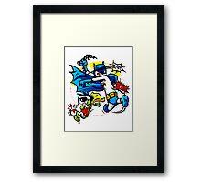 Calvin and Hobbes Batman Robin Style Framed Print