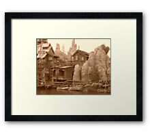 Big Thunder Mesa Framed Print