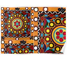 """""""Kutch Tapestry"""" -  Fabrics N' Flavors Of The World Collection Poster"""