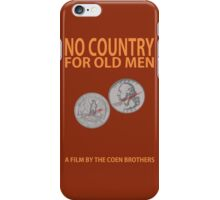 No Country For Old Men Minimalist Design iPhone Case/Skin