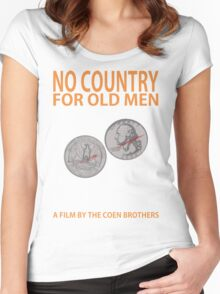 No Country For Old Men Minimalist Design Women's Fitted Scoop T-Shirt
