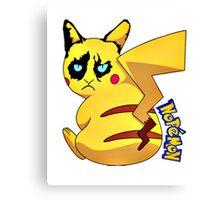 Nopemon - Pokemon Pikachu Canvas Print