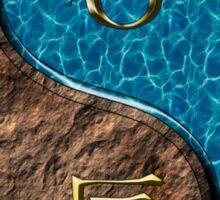 Capricorn & Dragon Yang Water Sticker
