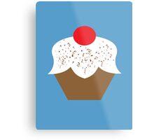 Chocolate Sprinkles Cupcake Metal Print