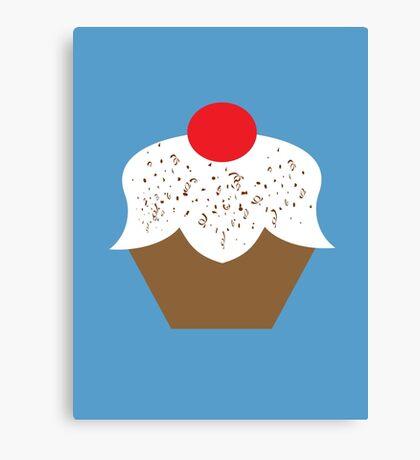 Chocolate Sprinkles Cupcake Canvas Print