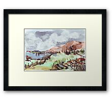 A painted landscape Framed Print
