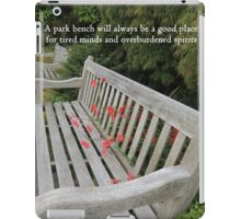A Good Place for Tired Minds and Overburdened spirits iPad Case/Skin