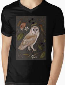 Barn Owl Mens V-Neck T-Shirt