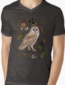 Barn Owl Mens V-Neck T-Shirt
