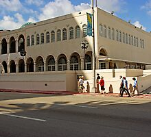 Saturday Morning, Synagogue in Miami Beach, Florida by Zal Lazkowicz