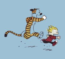 Calvin and Hobbes Running Man Kids Clothes