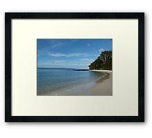 Deserted Beach Framed Print