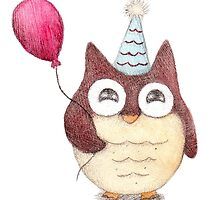 Birthday Owl by riaartworld