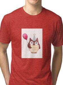 Birthday Owl Tri-blend T-Shirt