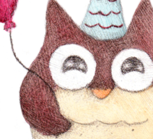 Birthday Owl Sticker