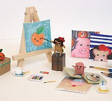 Painting Crochet Critters by riaartworld