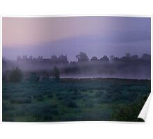 Early Morning Mist At Framlingham Castle Poster