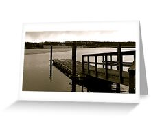 By the dock Greeting Card