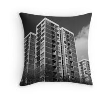 High rise living I Throw Pillow