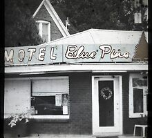 Motel Blue Pine by gail anderson