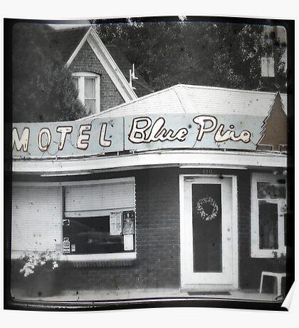 Motel Blue Pine Poster