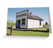 The Luzan Grocery, Ukrainian Cultural & Heritage Village, Alberta, Canada Greeting Card