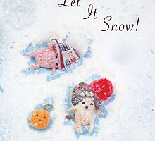 Holiday Crochet Critter Card by riaartworld