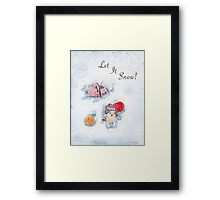 Holiday Crochet Critter Card Framed Print