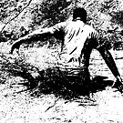 Splash Down - Survival Training in the Mud - B&W by Buckwhite
