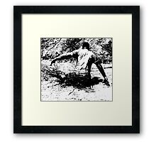 Splash Down - Survival Training in the Mud - B&W Framed Print