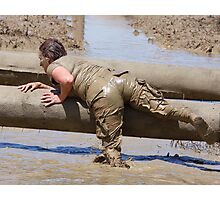 Going Over the Logs - Survival Training Photographic Print