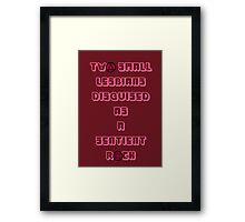 Two Small Lesbians- Garnet  Framed Print