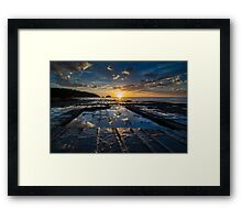Sun Rise at Tessellated Pavements Framed Print