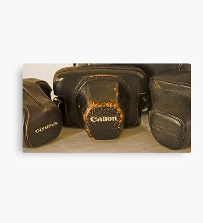 Old Camera Bags Canvas Print