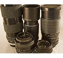 Various Lenses Photographic Print