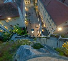 Looking down on my city by Delfino