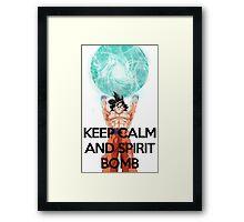 Keep Calm And Spirit Bomb!  Framed Print