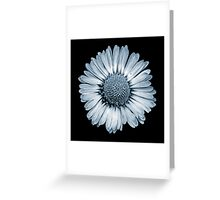 Retro Daisy in Blue Greeting Card