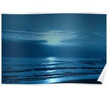 Blue Sunset Poster
