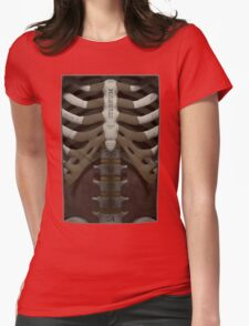 Anatomical Cutaway Womens Fitted T-Shirt