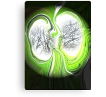 Visionary lungs of the evergreen trees Canvas Print