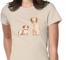 Brittany Spaniels Womens Fitted T-Shirt